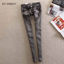 NEW fashion brand women skinny ripped boyfriend jeans denim elastic pants washing color good quality woman casual jean pants