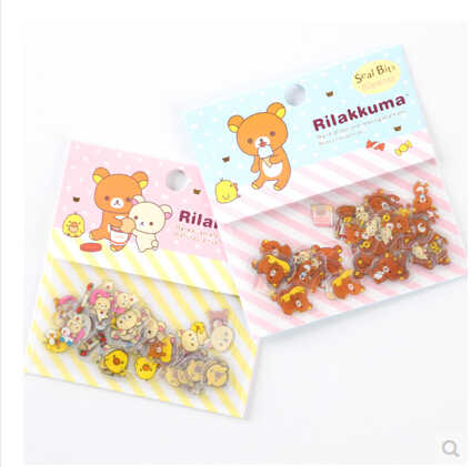 80 stks/pak Leuke Rilakkuma Sealing Stickers Dagboek Label Stickers Pack Decoratieve Scrapbooking DIY Stickers
