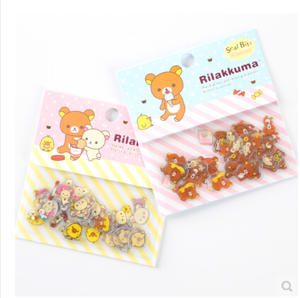 80 pcs/pack Cute Rilakkuma Sealing Stickers Diary Label Stickers Pack Decorative Scrapbooking DIY Stickers cow spots decorative stair stickers