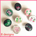 2017 vintage girl jewelry Alpha glass button DIY 18mm mixed AKA design charm snap bracelet decorations 40pcs,ONC-MIX6-1