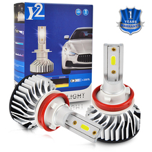 1 Set LED Car Headlight H4 H7 H8 H9 H11 HB2 HB3 HB4 9003 9005 9006 DC 12-24V 3000LM 6500K Hi/Low Beam Bulbs Super White цена