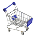 Multicolor Mini Funny Folding Supermarket Handcart Shopping Storage Phone Jewelry Stand Holder With Wheels Utility Cart Toy