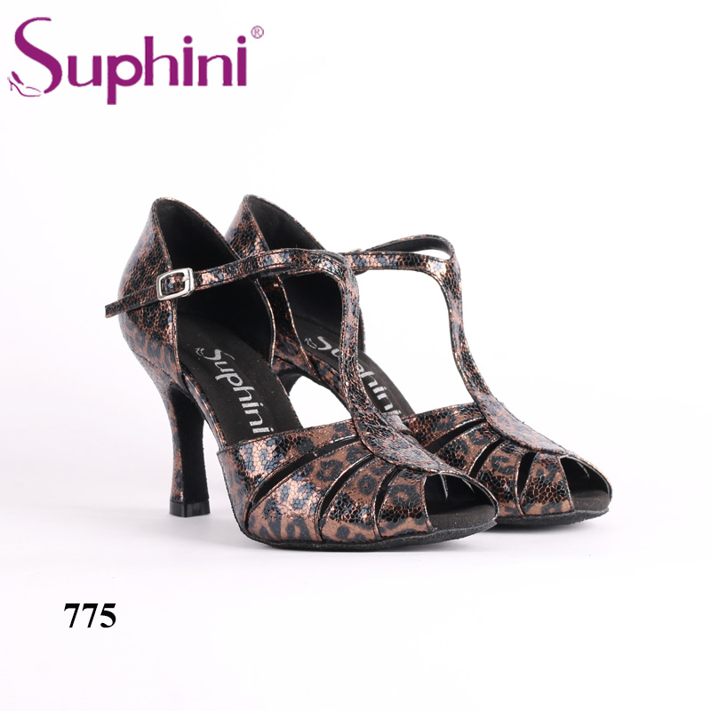 Free Shipping Suphini New Style Leopard Latin Dance Shoes Very Comfortable Woman Dance Shoes Special Offer Latin Dance Shoes free shipping 2017 suphini latin red love dance shoes woman dance shoes crystal comfortable flexible latin dance shoes