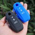 Silicone rubber key fob cover case skin holder sticker for Porsche Boxster Cayman Macan Panamera Cayenne 911 remote protector