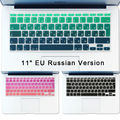 Russian Keyboard Stickers Air 11 inch Gradient Euro Layout Silicone Keyboard Cover for MacBook Air 11.6