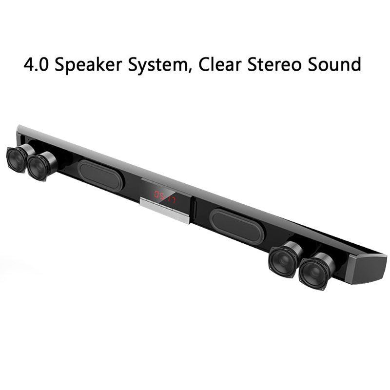 XGODY Soundbar TV Heimkino SR100 Bluetooth Lautsprecher 2,0 Kanal Wireless Audio Für PC Unterstützung Fernbedienung 3,5mm AUX TF USB - 2