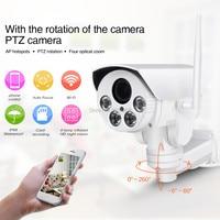Горячие HI3516C + SONY IMX323 HD 1080 P 2MP 4X автоматического масштабирования сети открытый Водонепроницаемый PTZ WI FI ip пуля Камера беспроводной ИК Onvif SD кар