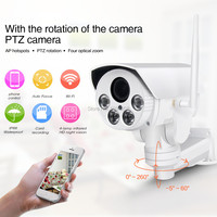 Hot HI3516C SONY IMX323 HD 1080P 2MP 4X Zoom Auto Network Outdoor Waterproof PTZ WIFI IP