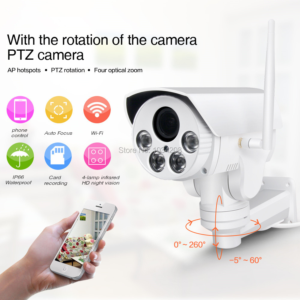Hot HI3516C+SONY IMX323 HD 1080P 2MP 4X Zoom Auto Network Outdoor Waterproof PTZ WIFI IP Bullet Camera Wireless IR Onvif SD CardHot HI3516C+SONY IMX323 HD 1080P 2MP 4X Zoom Auto Network Outdoor Waterproof PTZ WIFI IP Bullet Camera Wireless IR Onvif SD Card