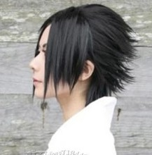 New arrival NARUTO hair accessories 160g 30cm synthetic hair jewelry for Uchiha Sasuke cosplay wigs