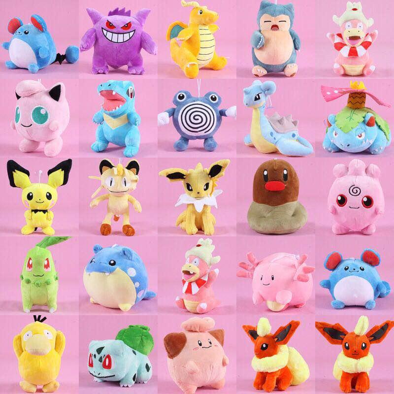 39 Style Pikachu Totodile Chikorita Venusaur Eevee Charmander Anime Plush Doll Soft Toy Birthday Present Kids Gift Around 20 CM