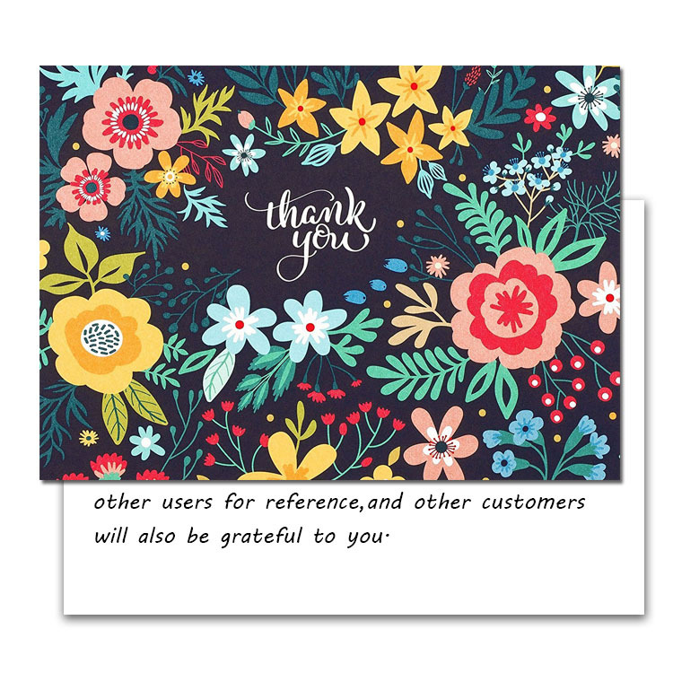 200Pcs Design Custom After-sales Card Praise/thank You Card Printing School Company Gift Card Ticket Advertising Promotion Card