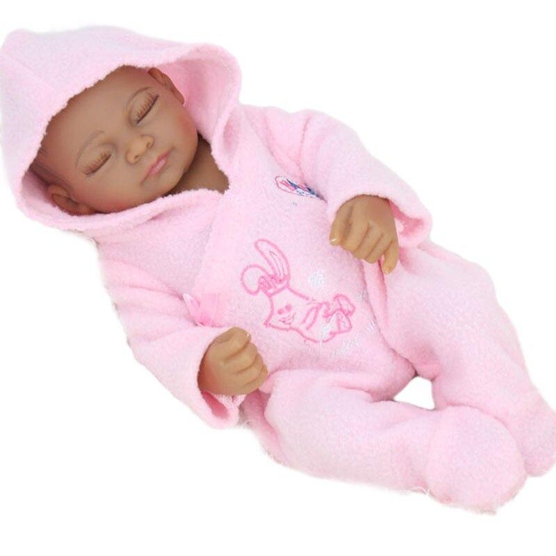 28 cm mode Silicone Reborn bébé poupée à vendre corps entier doux vinyle imperméable jouets réaliste mignon enfants cadeau Mini poupées