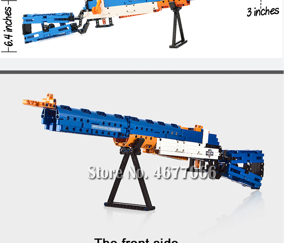 Legoed gun model building blocks p90 toy gun toy brick ak47 toy gun weapon legoed technic bricks lepin gun toys for boy 148