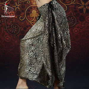 Image 4 - ATS Women Tribal Belly Dance Bra and Pant Chain Metallic Vintage Coins Gypsy Dance Tops Flare Trousers 2pcs Set Costumes