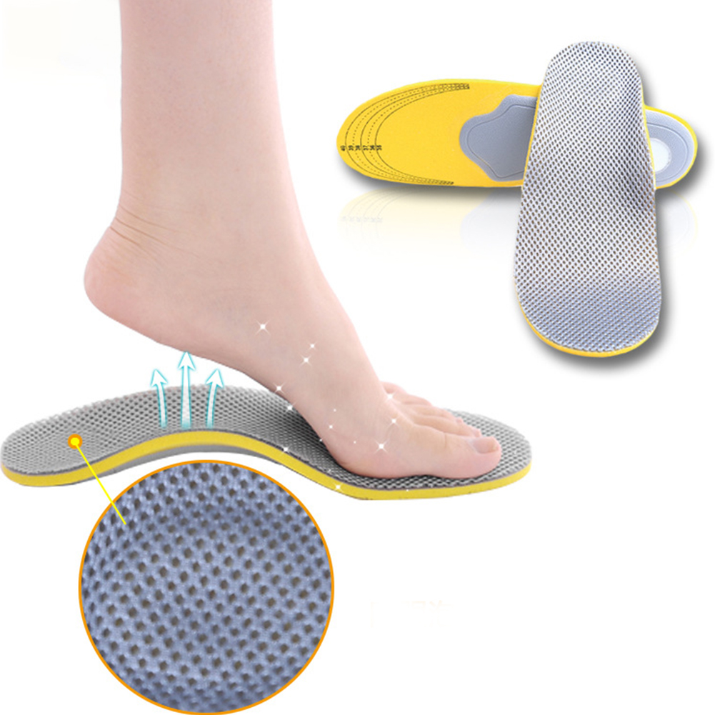 High quality feet care 1 pair 3D premium women men comfortable shoes orthotic insoles inserts high arch support pad image