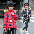 Girls Winter Coats Long Thick Down Teenage Coats Children long fur hooded  jackets teenage Kids quilted Greatcoa Clothes YL307