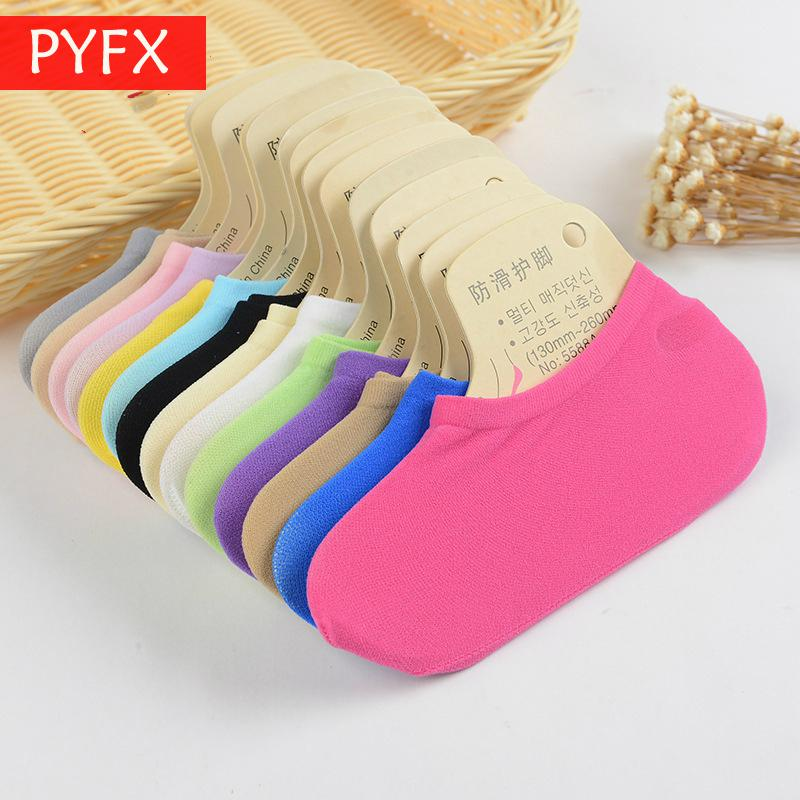 Candy Magic Socks Wholesale Lady Invisible Velvet Skid-proof Boat Silicone Silk Stockings Summer
