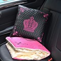 2016 Fashion Embroidery Crown Multifunctional car seat back pillow and quilt waist support women car accessories for kia audi vw