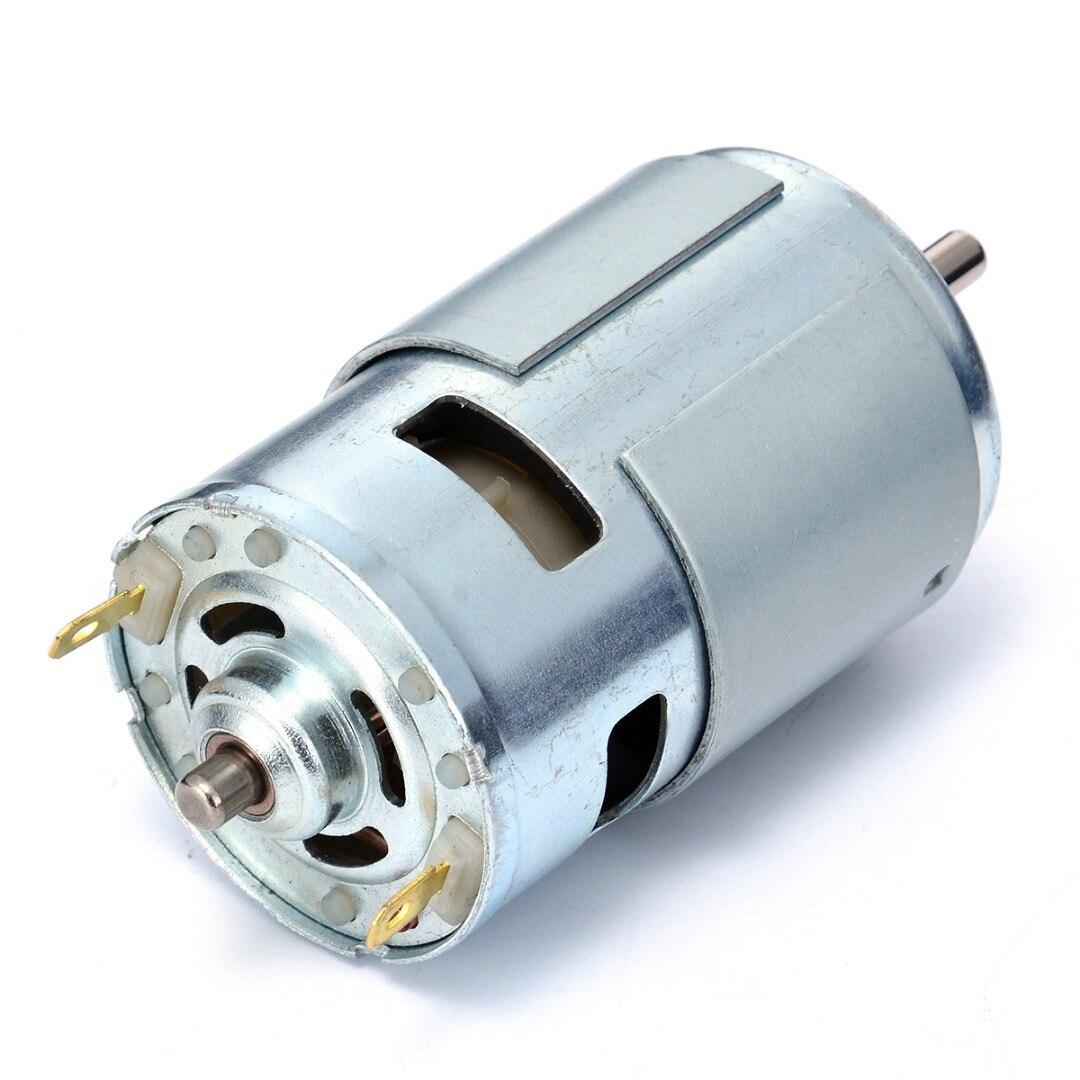 Alta Potencia 775 DC husillo eléctrico Moto gran par Motor rodamiento de bolas Herramientas 12 V-36 V motores y piezas de bajo ruido