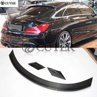 W117 CLA 250 Carbon Fiber 3pcs/set Rear Spoiler Wings For Mercedes Benz W117 cla250 car body kit 13 15