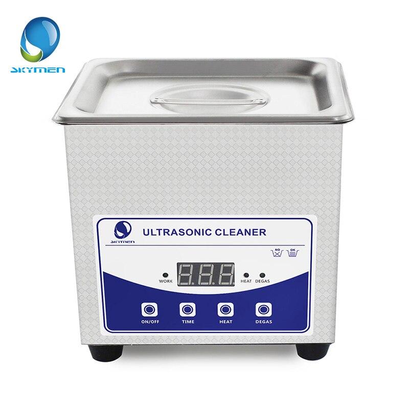 Skymen Digital Ultrasonic Cleaner Bath 1.3L 60W 40kHz Degas cleaner with heater Transducer Power
