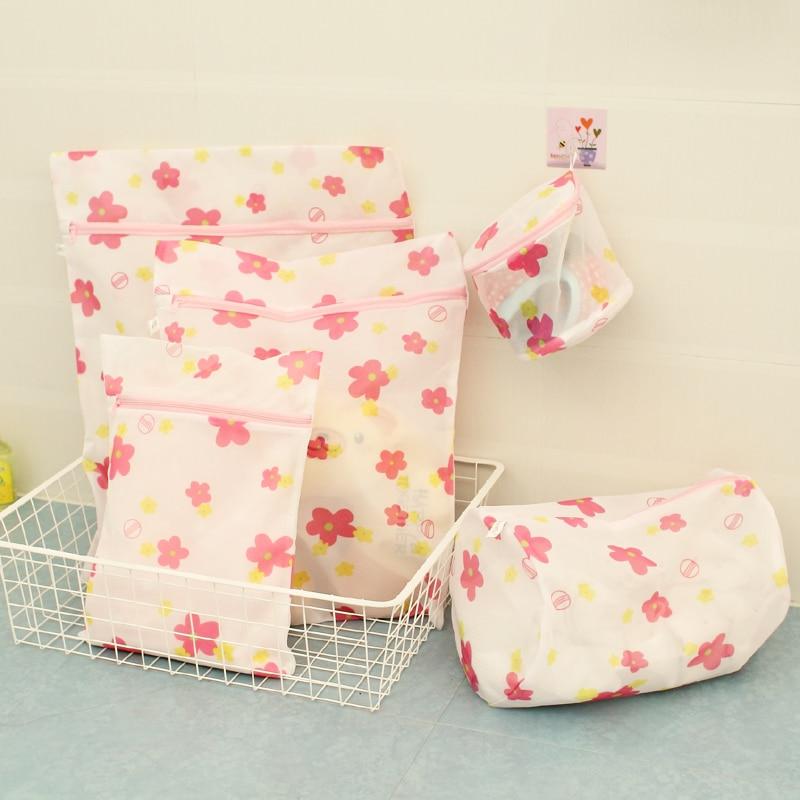 5 pieces Clothing laundry bag set nursing bra wash bags