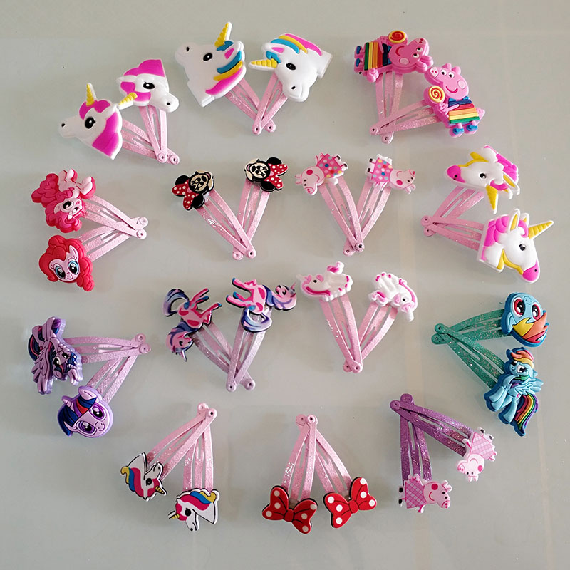 10 PCS/lot Cute Barrette Hair Accessories Hair Clips For Girls Cute Children Hairpins Colorful For Kids Hairgrips