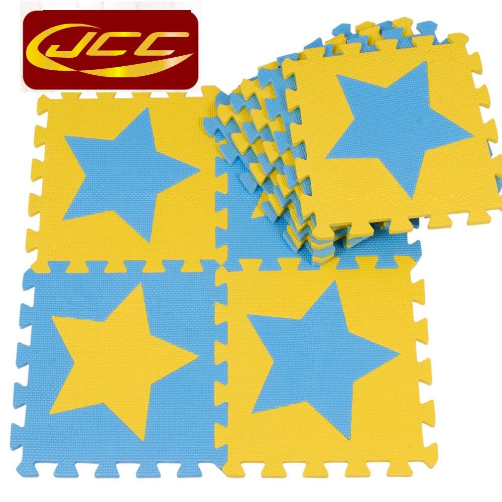 JCC dječja EVA pjena puzzle igra mat / 10pc djeca Star tepisi - Igračke za bebe i malu djecu - Foto 4