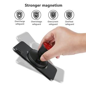 Image 5 - Cargador de coche inalámbrico de carga rápida QI, soporte magnético para teléfono de coche, 10W