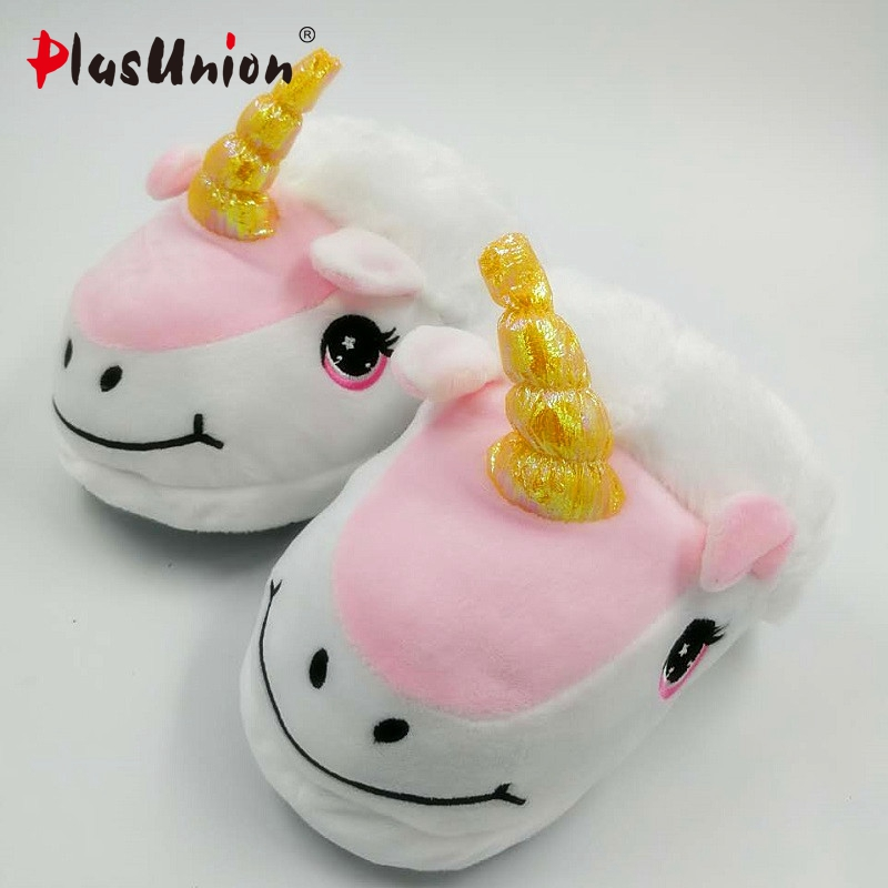 unicorn slippers cotton winter indoor warm solid flat furry animal fluffy fenty anime shoes fuzzy house licorne home slippers indoor winter flock plush furry slippers for women fluffy rihanna anime fenty fur pantufa shoes fuzzy house home adult v125