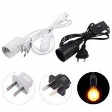 1 шт. E27 разъем подвесной светильник держатель лампы светильник домашняя лампа база люстры Лампа патрон шнур с переключателем