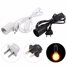 1Pc E27 Socket Hanging Pendant Light Lamp Holder Fixture Home Lamp Base Chandeliers Bulb Socket Holder Cord with Switch(China)