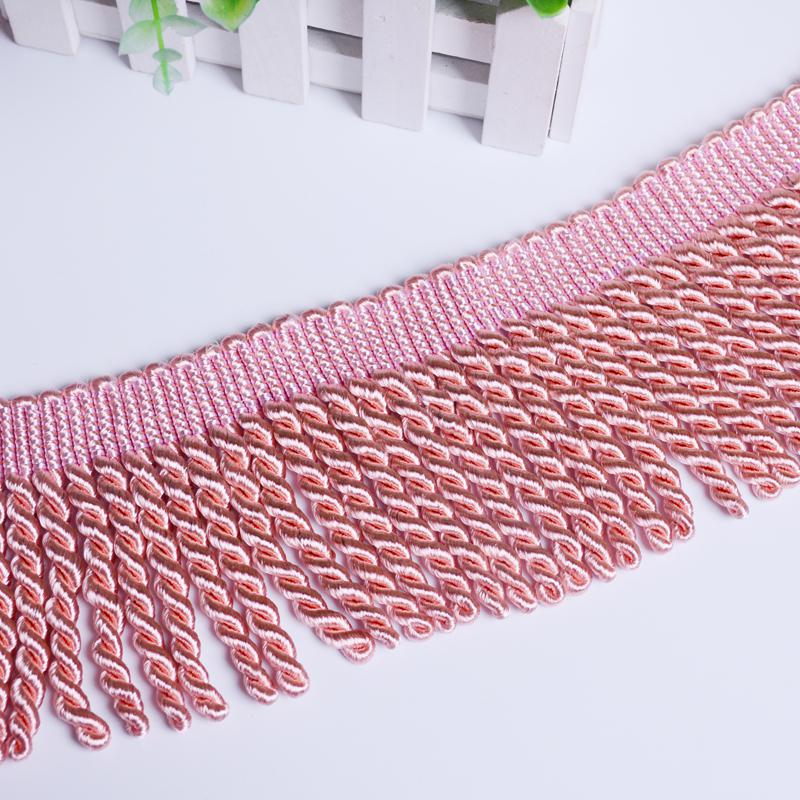 12 Yards/lot Different Color Fringe 9 Cm Width Lace Cushion Cover Pillow Cover Throw Accesories Polyester Trimming Encaje Flecos