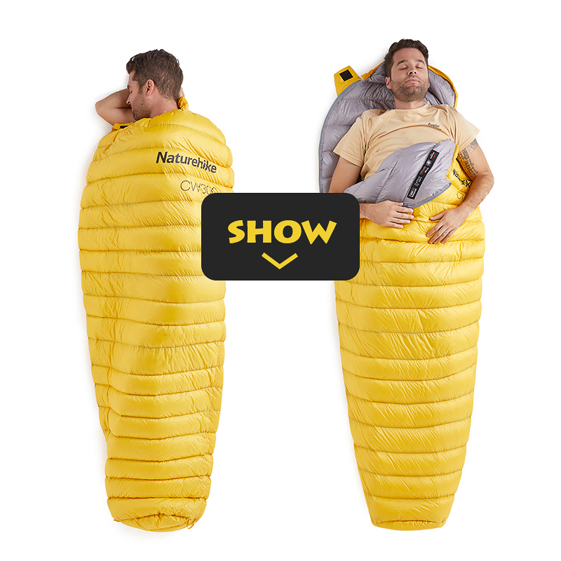 Naturehike Ultralight Warm Sleeping Bag White Goose Down Sleeping Bag Adults Backpacking Camping Mummy Sleep Bags in Sleeping Bags from Sports Entertainment