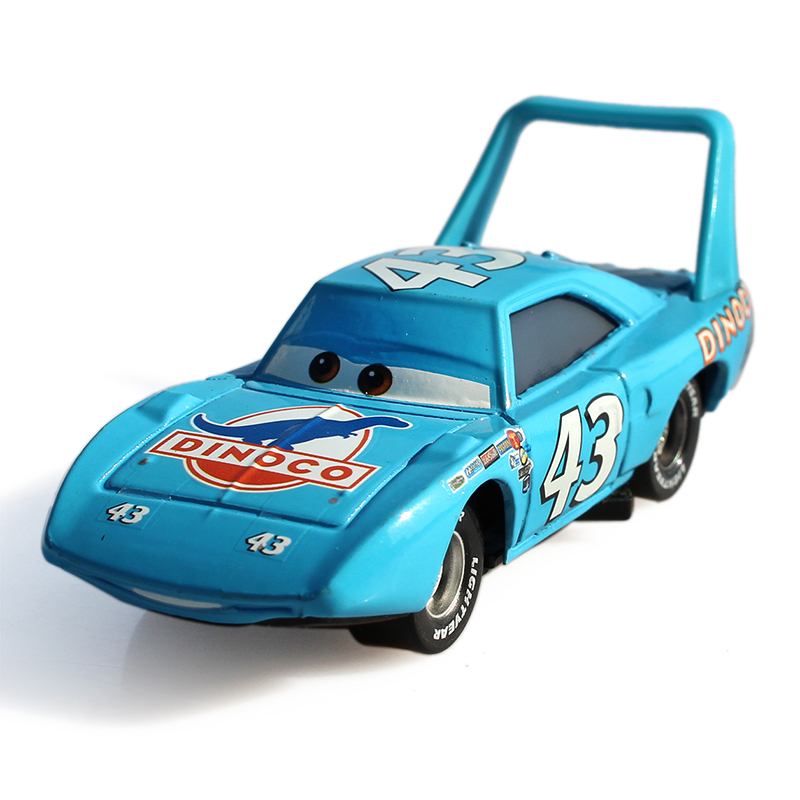 100% Original Pixar Cars 2 No.43 The King 1:55 Scale Diecast Alloy Metal Car Kids Toy  Children Racing Car  Lightning McQueen