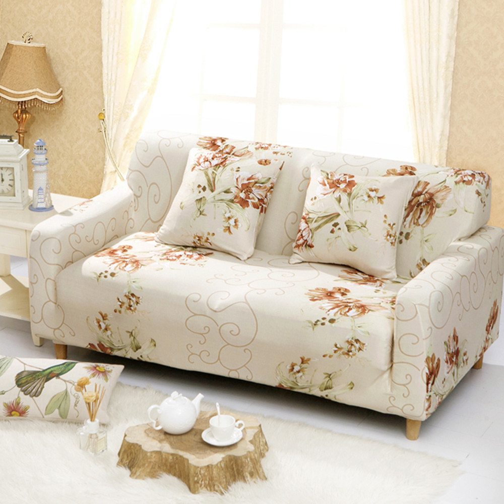 Floral Printed Sofa Covers Elastic Stretch Universal