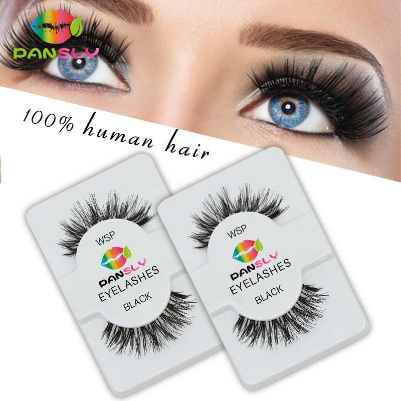 558f9f9571a ... Pansly 6pairs 3D Handmade Rzesy Eyelashes Natural Long Thick Makeup  Wimpers False Eyelashe Extension eyelash bulk ...