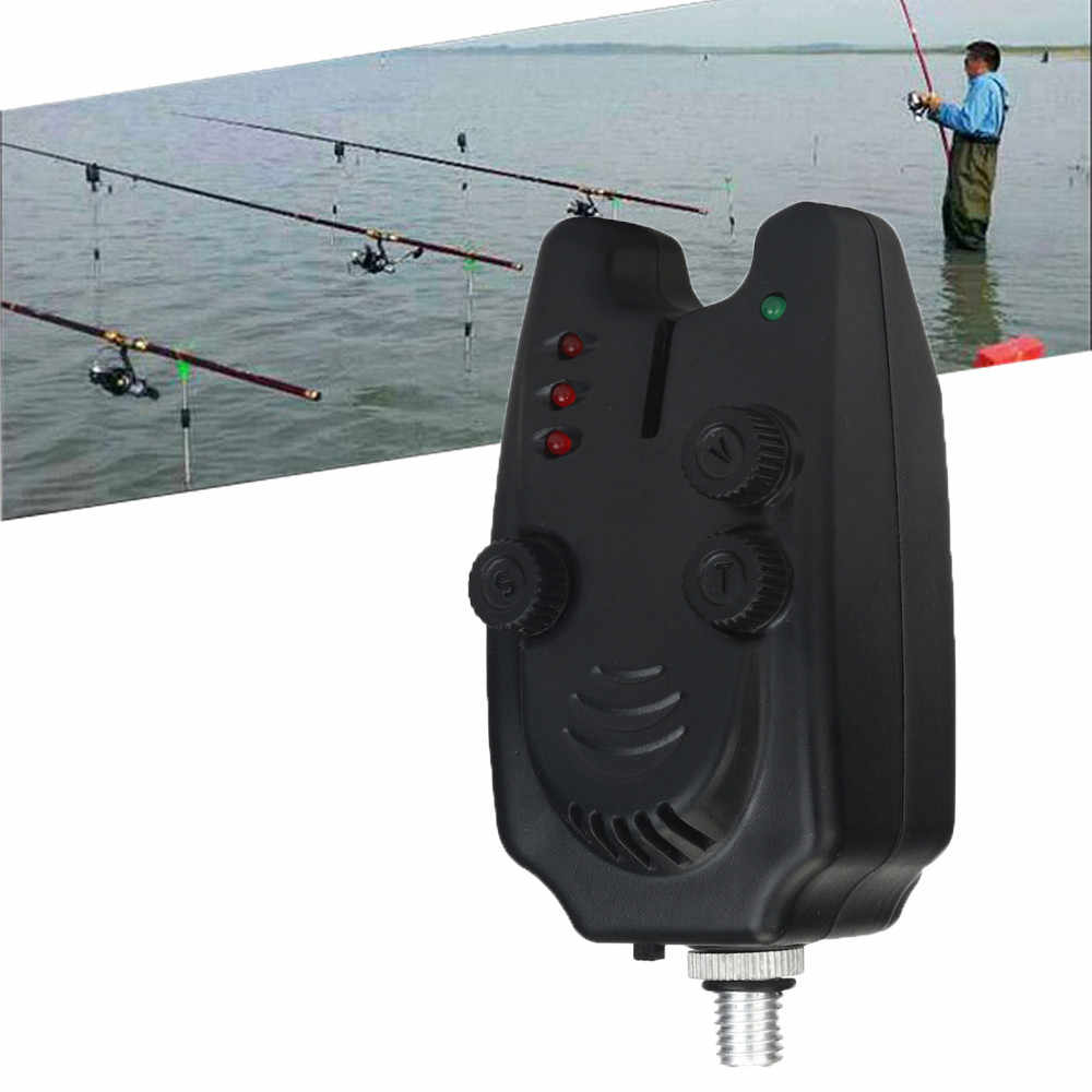 Voberry Black High Sensitivity Led Fish Bite Electronic Alarm Bell for Fishing Throwing Rod