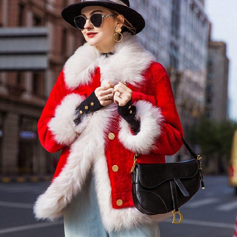 Fourrure Moutons D'hiver Laine 2018 Peau Femmes Manteau Véritable Taille Vestes Des Tonte red Court Veste Européenne En De Blue Mouton 4qOwqX5