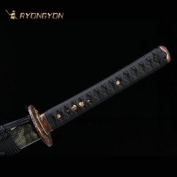 Handmade Katana Real Sword Sharp Samurai Sword Japan Ninja Sword Damascus Steel Full Tang Clay Tempered Hand Lapping Blade A701 3