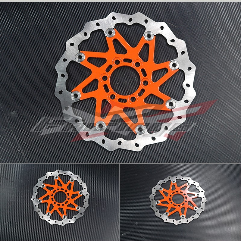 CNC Aluminium WAVE BRAKE DISC FRONT Fit for KTM 125 200 DUKE 2012 320mm floating motorcycle brake disc disks rotor for ktm duke 125 200 390 duke 2013 2016 motorbike front brake disc disks