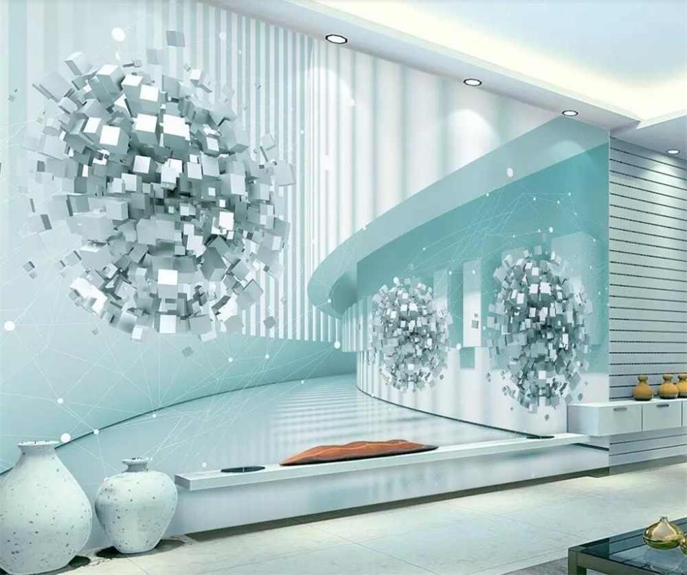 Beibehang カスタム壁紙 3d 写真壁画ステレオスペース未来技術センス