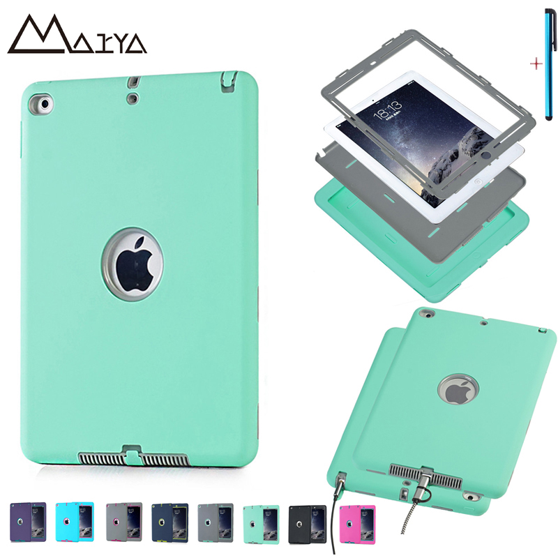 For iPad 6 Air 2 Case Tablet Drop Resistance Shockproof Kid Safe Rugged Cover PC Silicon Stand Shell Book Cover 9.7 inch Coque scomas tablet pc case for apple ipad 5 air 1 drop resistance cover protective with hand strap fashion pirate king stand bracket