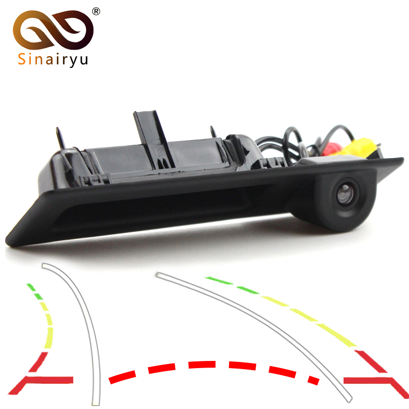 Dynamic trajectory Car Rear View Camera For <font><b>BMW</b></font> X1 X3 X4 X5 F30 F31 F34 F07 F10 <font><b>F11</b></font> F25 F26 E84 Auto Trunk Handle Reverse Camera image