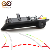 Dynamic trajectory Car Rear View Camera For BMW X1 X3 X4 X5 F30 F31 F34 F07 F10 F11 F25 F26 E84 Auto Trunk Handle Reverse Camera