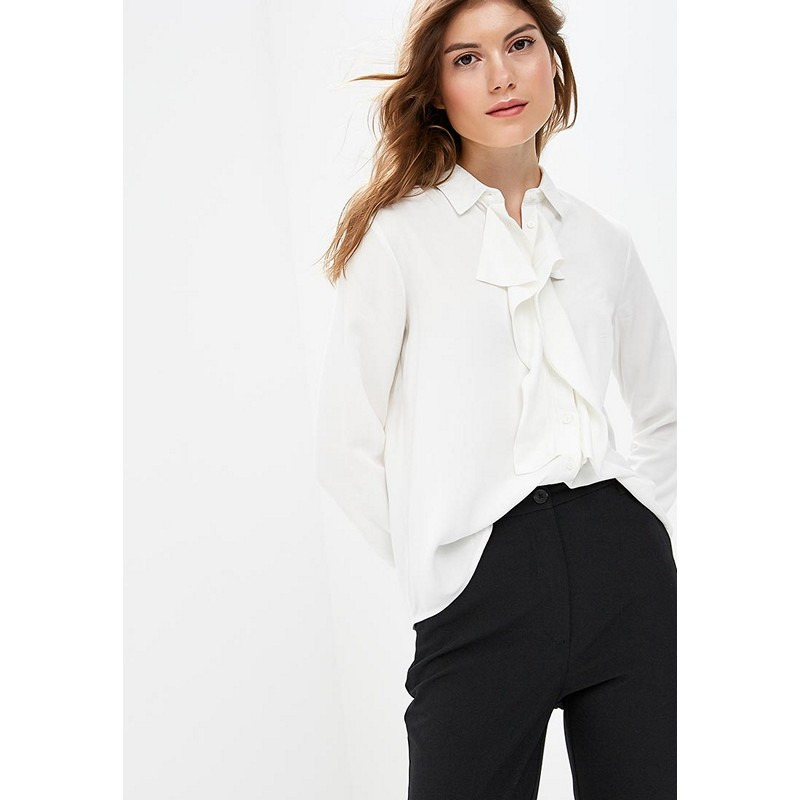 Blouses & Shirts MODIS M182W00390 blouse shirt clothes apparel for female for woman TmallFS plus collar knot blouses