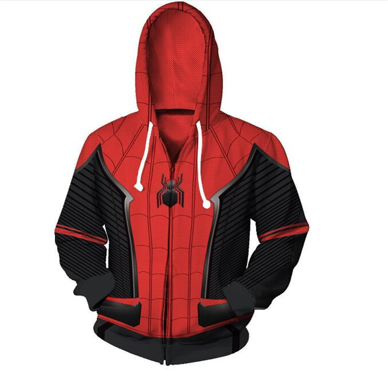 3D Printed The Avengers Iron Man Spiderman Costume Hoodies Men Superhero Spider Verse Hooded Cosplay Sweatshirts Casual Tops 6xl