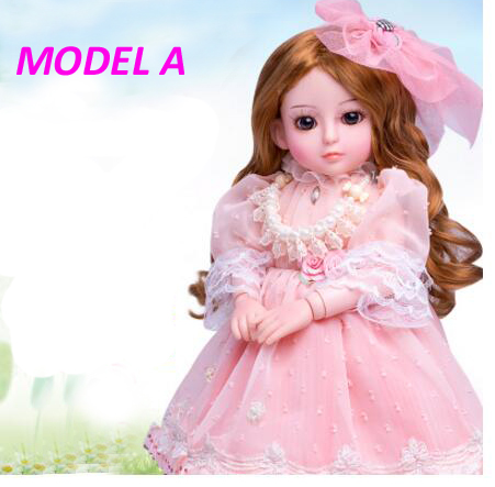 ФОТО 45CM princess doll toys for girls fashion dress real blonde hair real doll reborn talking toys for children