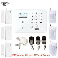 3G GSM LCD Display Menu Touch Keypad Wireless Wired PSTN Quad Band SMS Home Security Voice